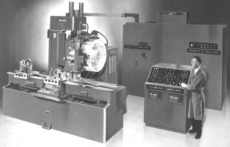 1959 CNC Machine Milwaukee-Matic-II was first machine with a tool changer... www.cnccookbook.com